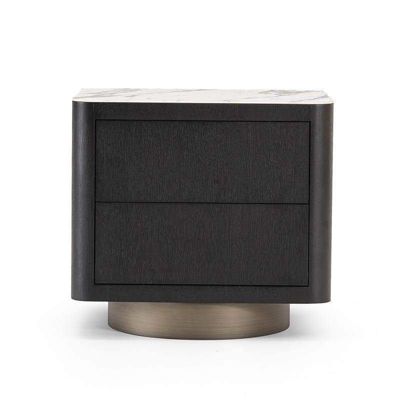 MADISON Side Table Charcoal Oak-2