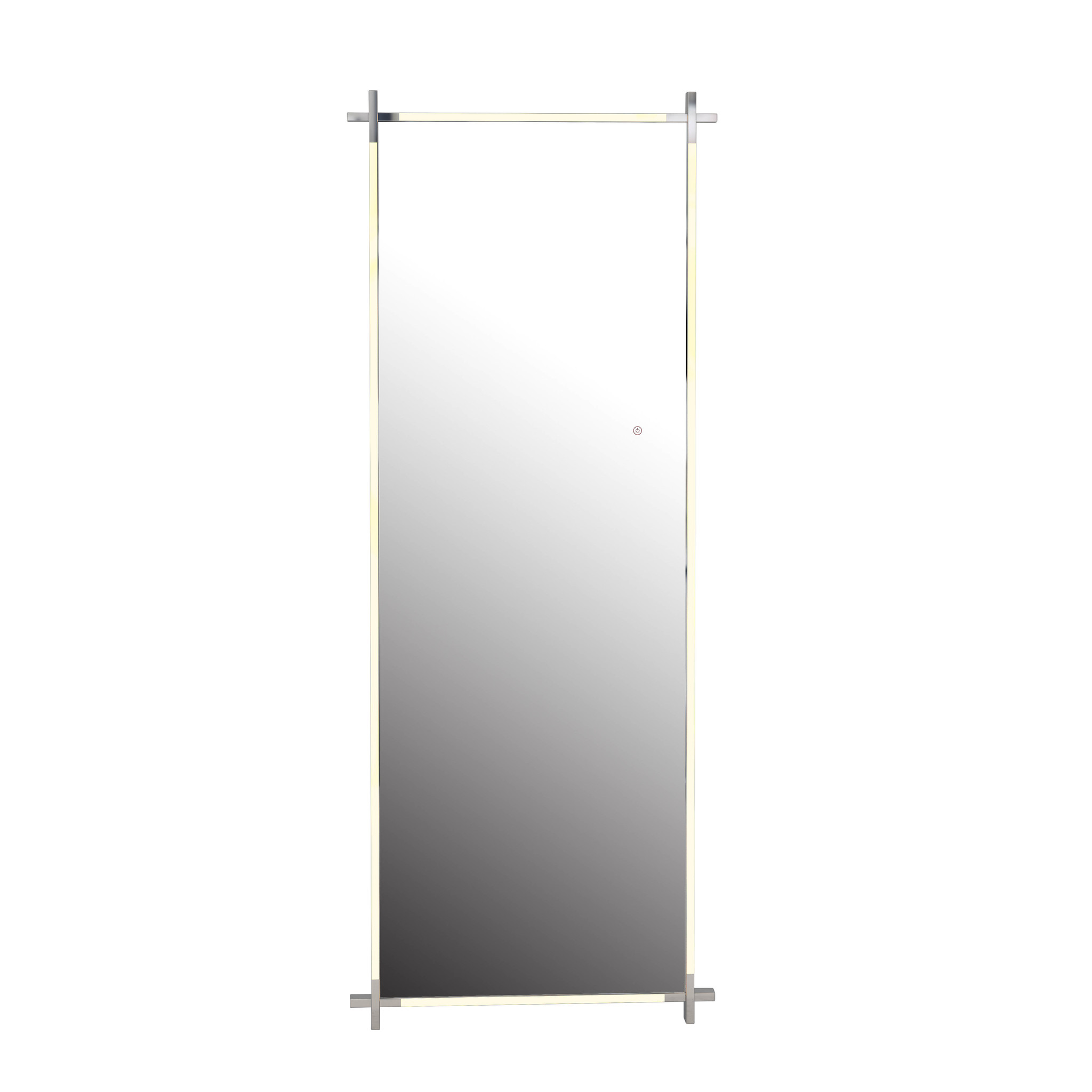 CITY LIGHTS Wall Mirror Silver LED 85x220-1