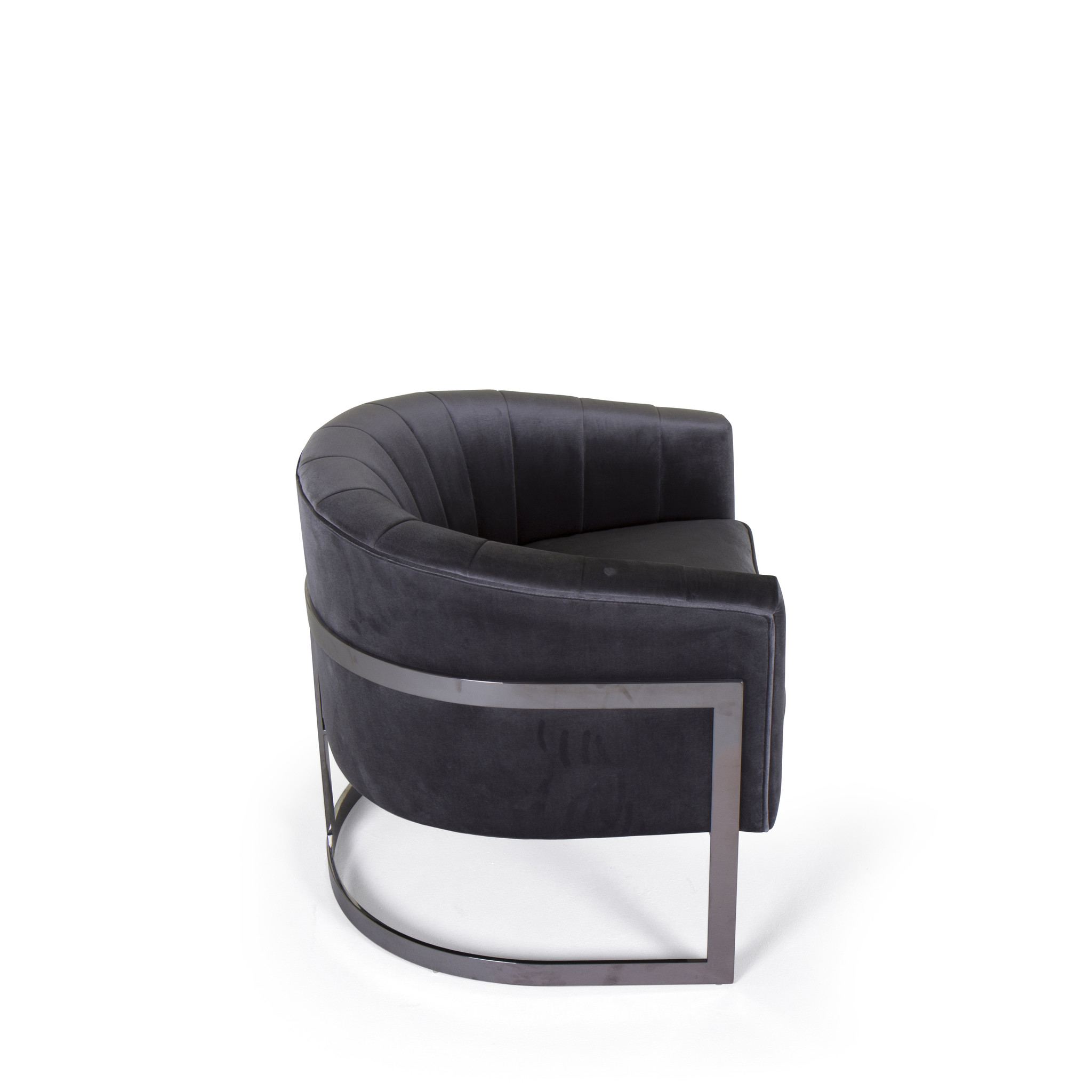 ROBERTO Arm Chair Steel Grey Nola Velvet-3