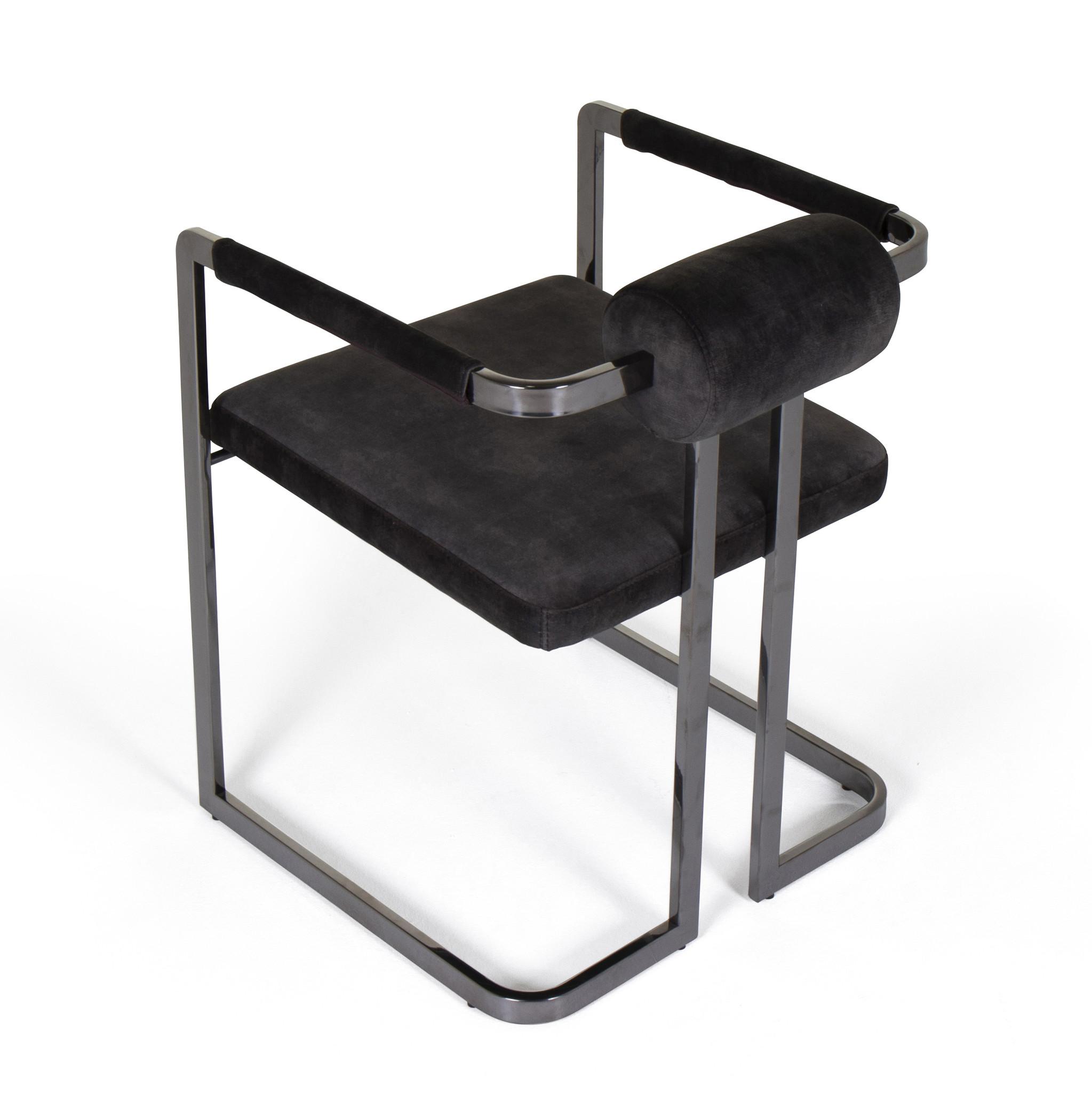 MILO Dining Chair Graphite Velvet-3