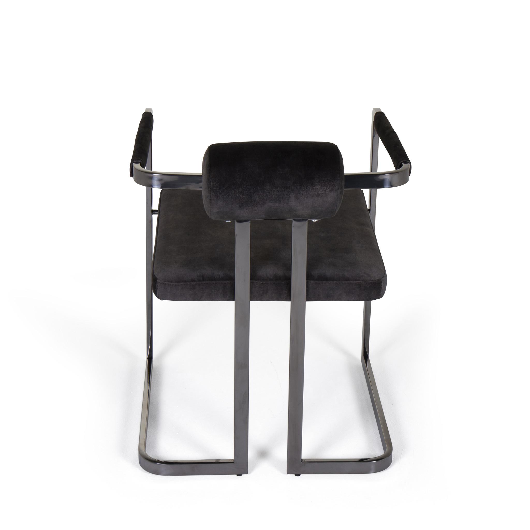 MILO Dining Chair Graphite Velvet-4