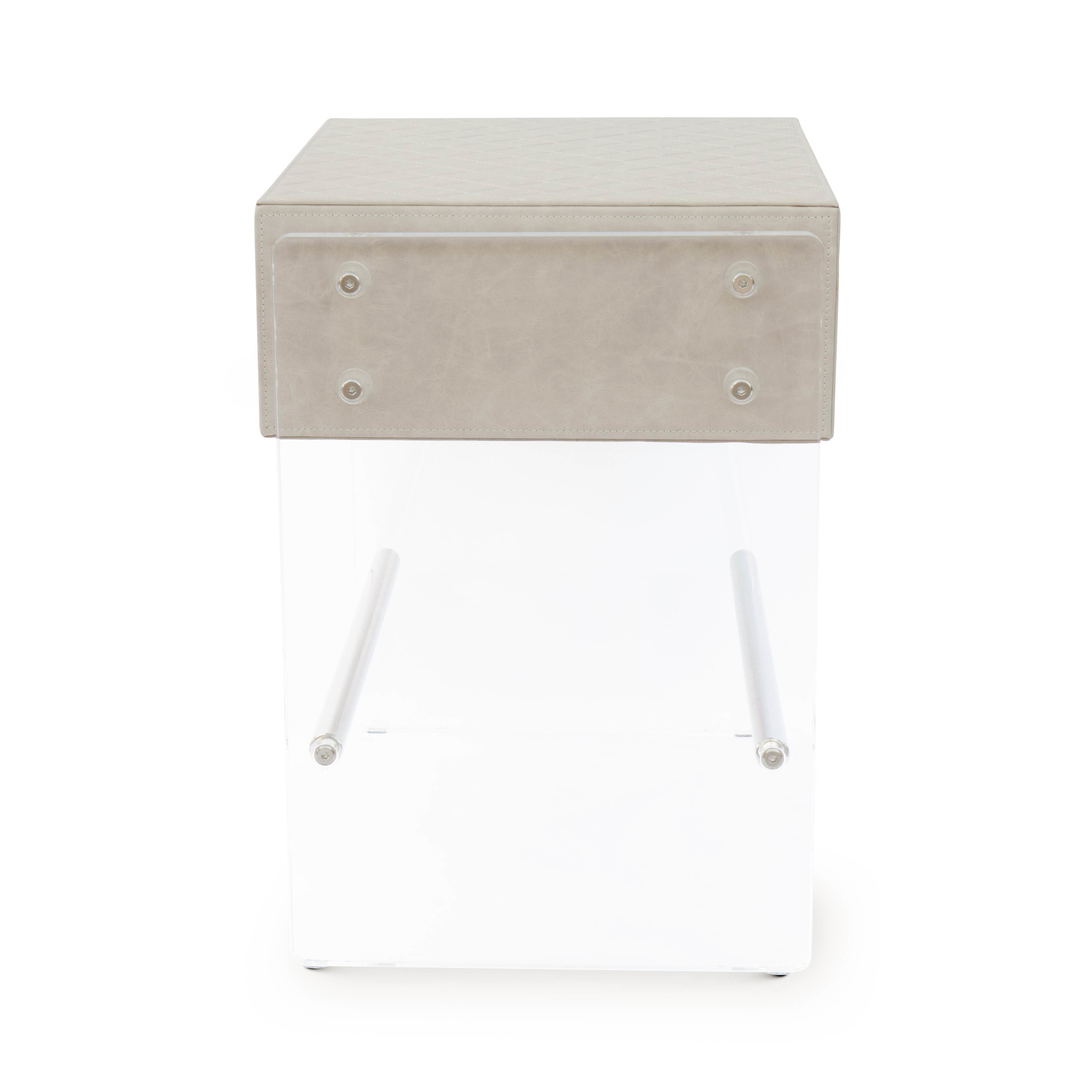 GENOVA Side Table Cappucino Leather-2