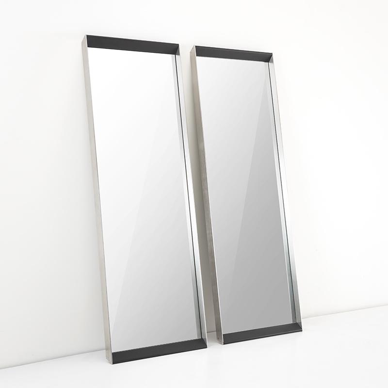 PENTHOUSE Wall Mirror Charcoal Oak 70x200-2
