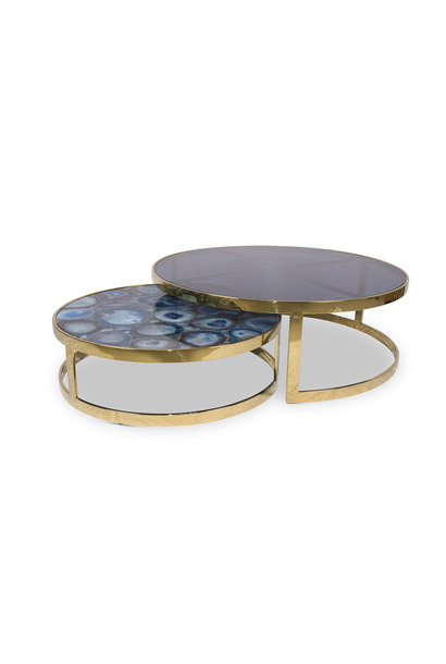FIORENTINO AGATE Coffee Table Set Gold