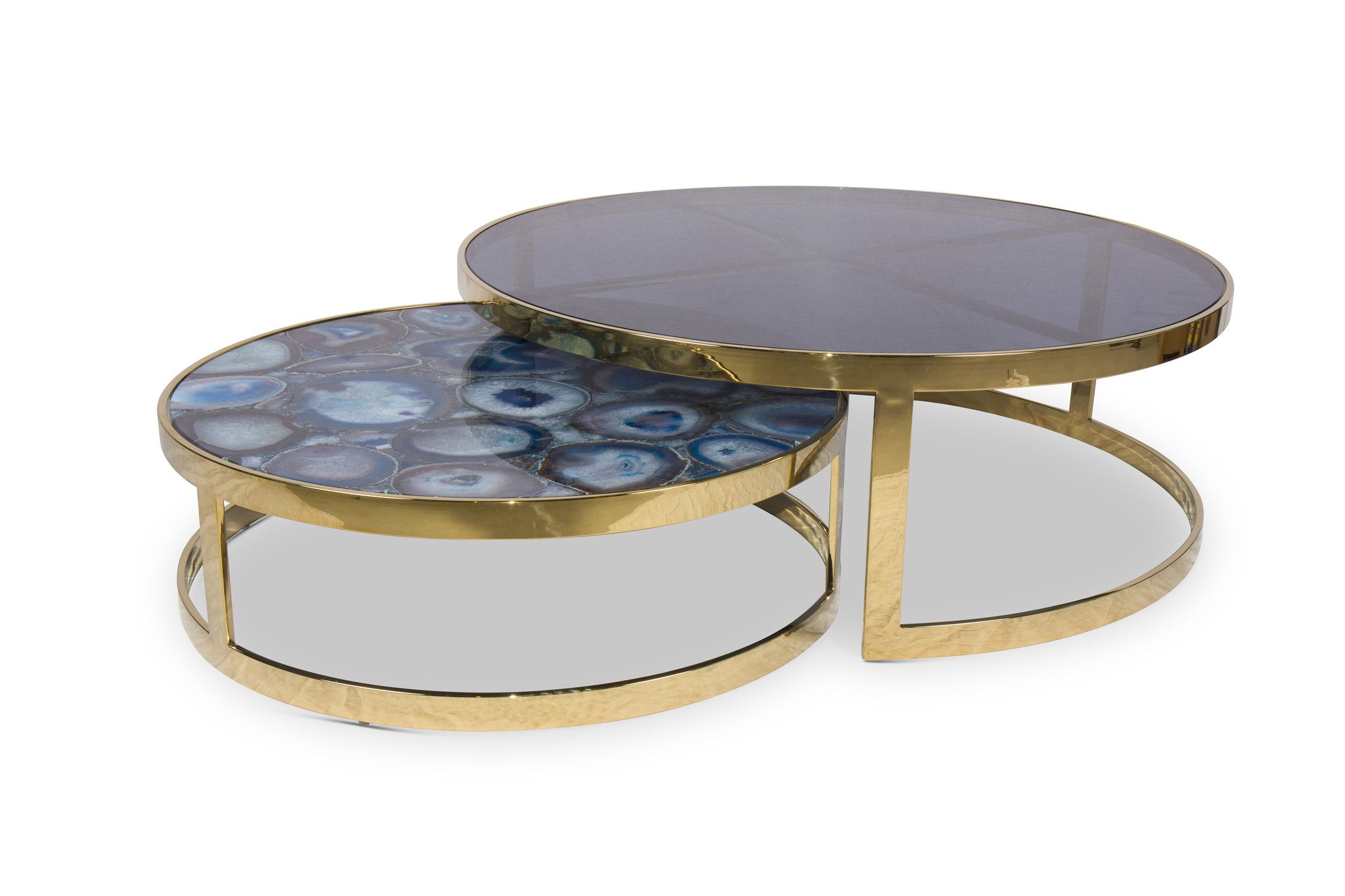 FIORENTINO AGATE Coffee Table Set Gold-1
