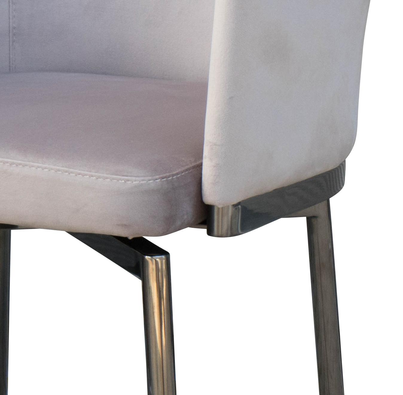 RUBEN Dining Chair Light Taupe Velvet-4
