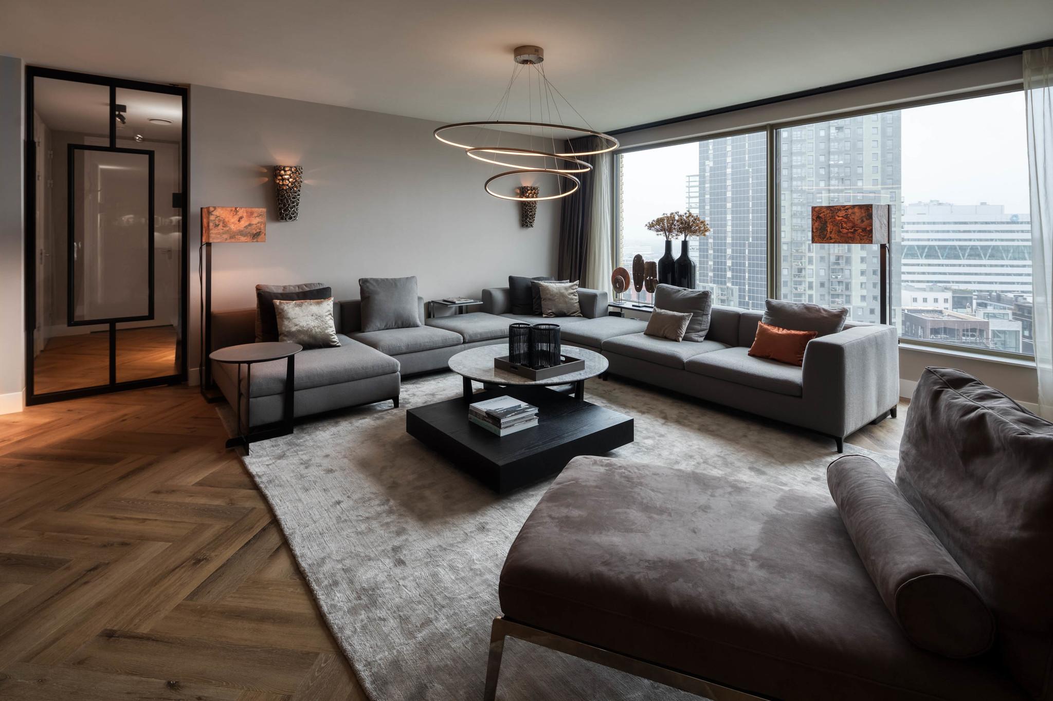 GIULIA Corner Sofa Mid Grey Hopsack-3