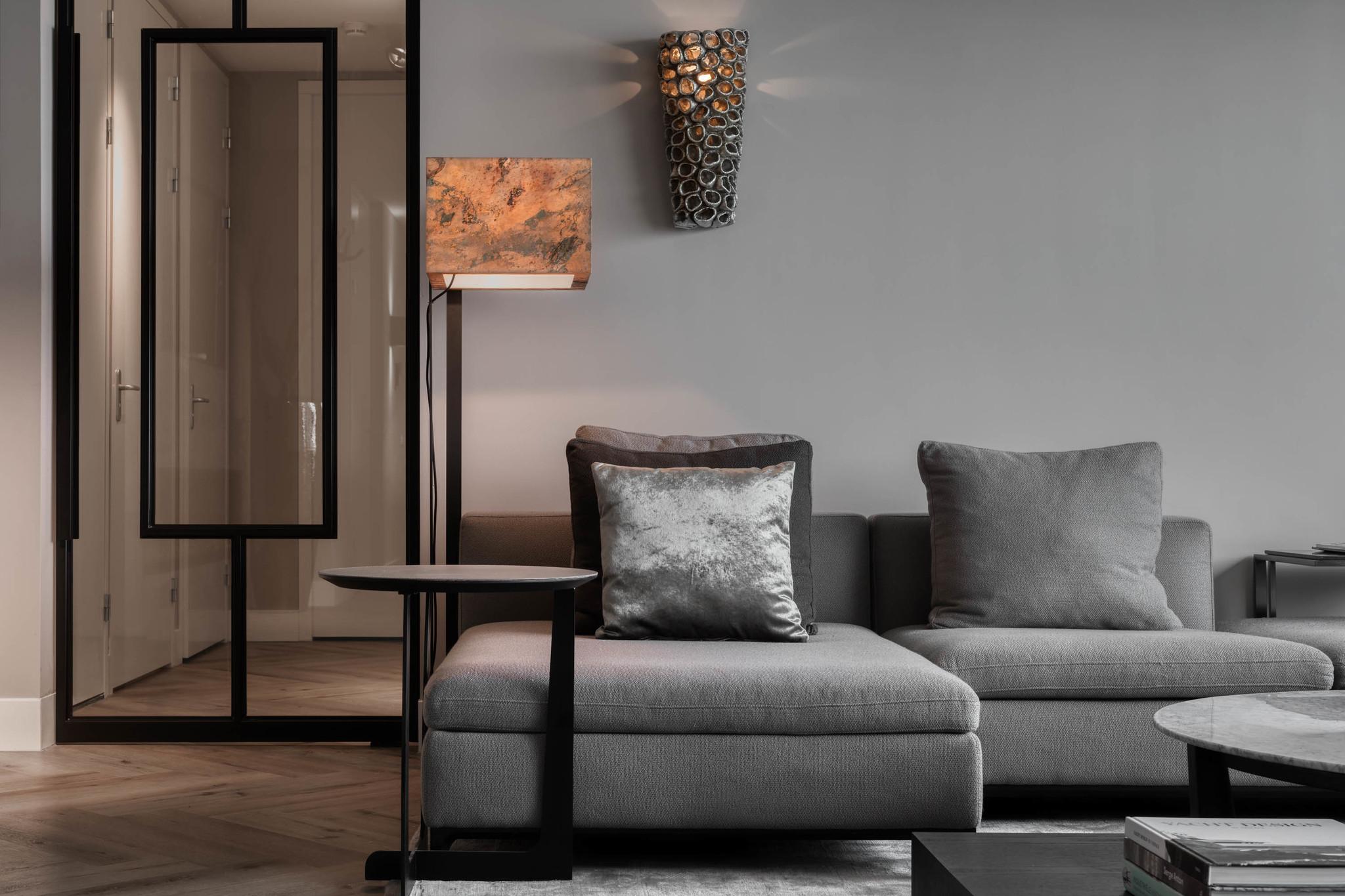 GIULIA Corner Sofa Mid Grey Hopsack-4
