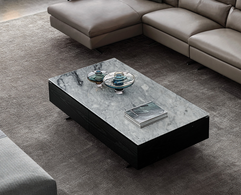 LUCA Coffee Table White Marble-3