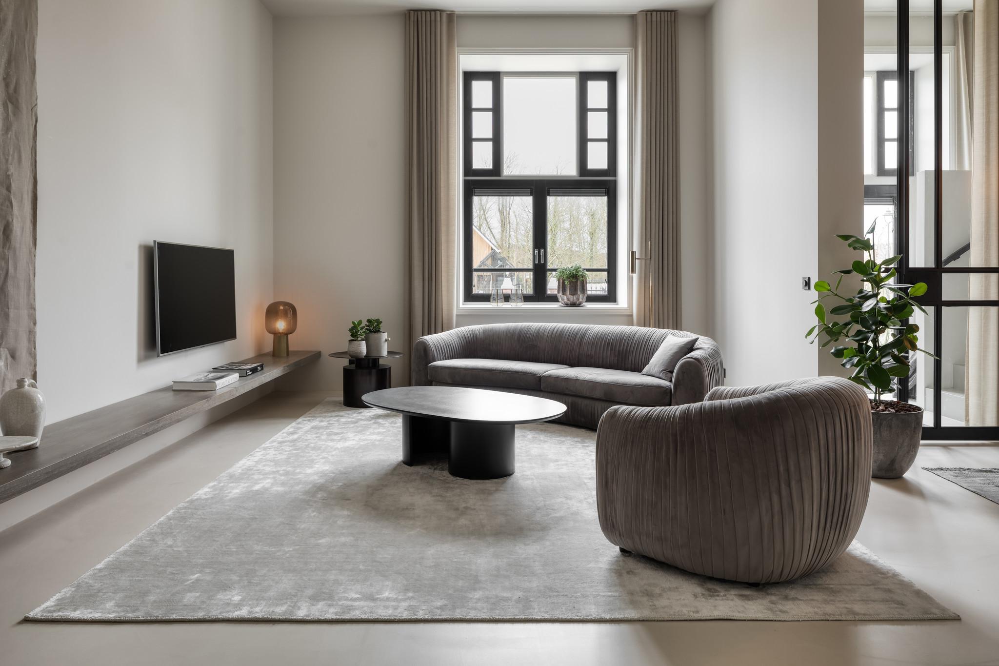CHIANTI Round Carpet Silver Beige 280cm-2
