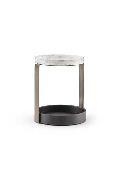 NICOLO Side Table Charcoal Oak