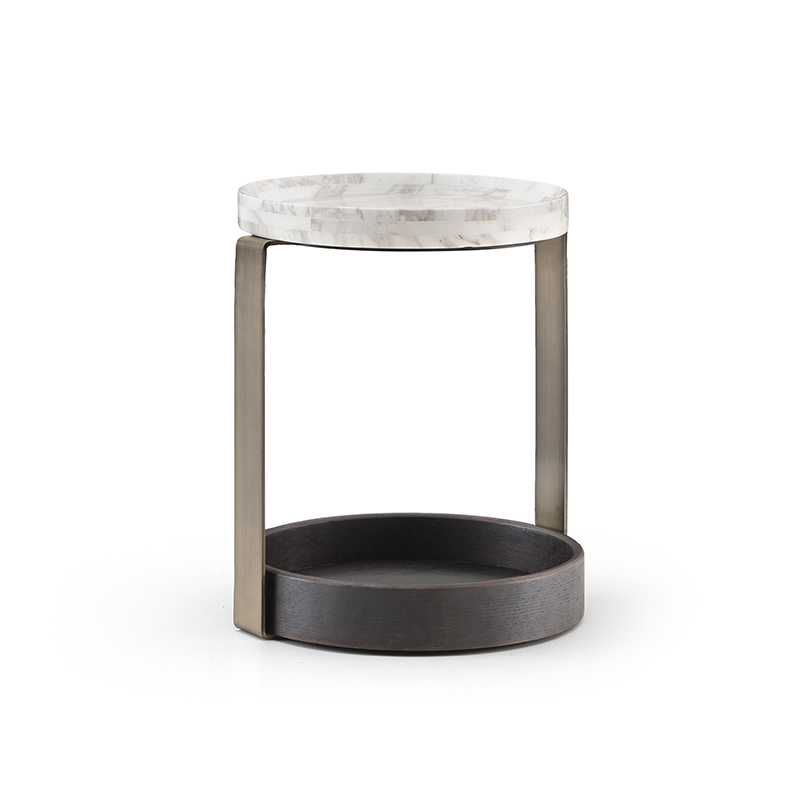 NICOLO Side Table Charcoal Oak-1