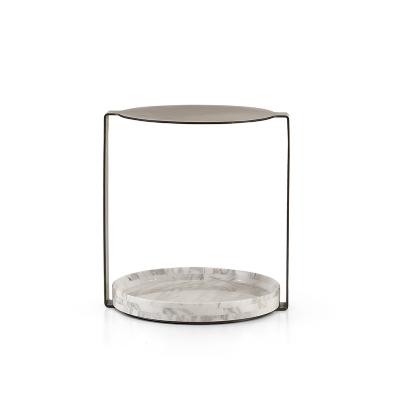 NICOLO Side Table White Marble-2