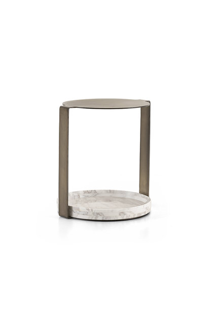 NICOLO Side Table White Marble