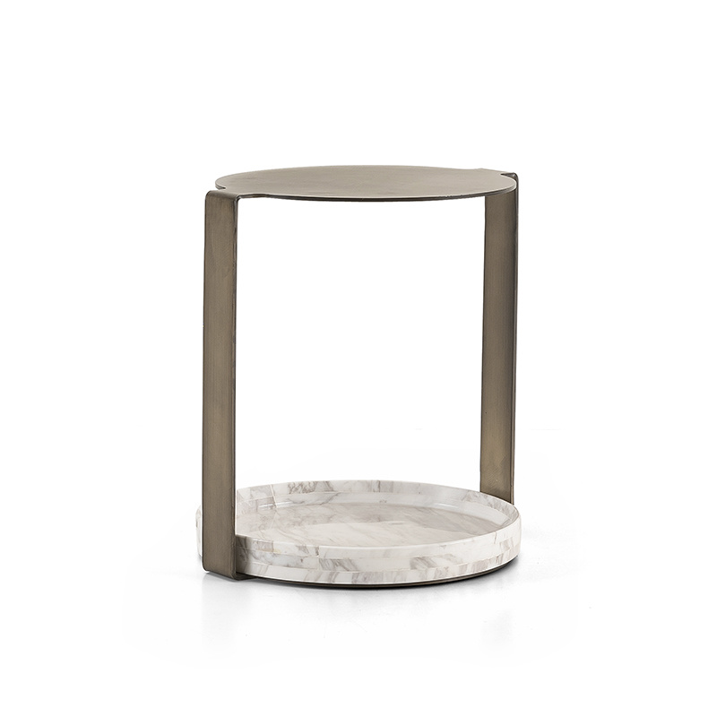 NICOLO Side Table White Marble-1