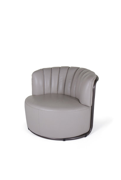 MONTI Arm Chair Cappuccino White Leather