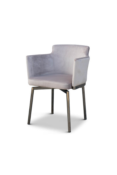 RUBEN Dining Chair Light Taupe Velvet