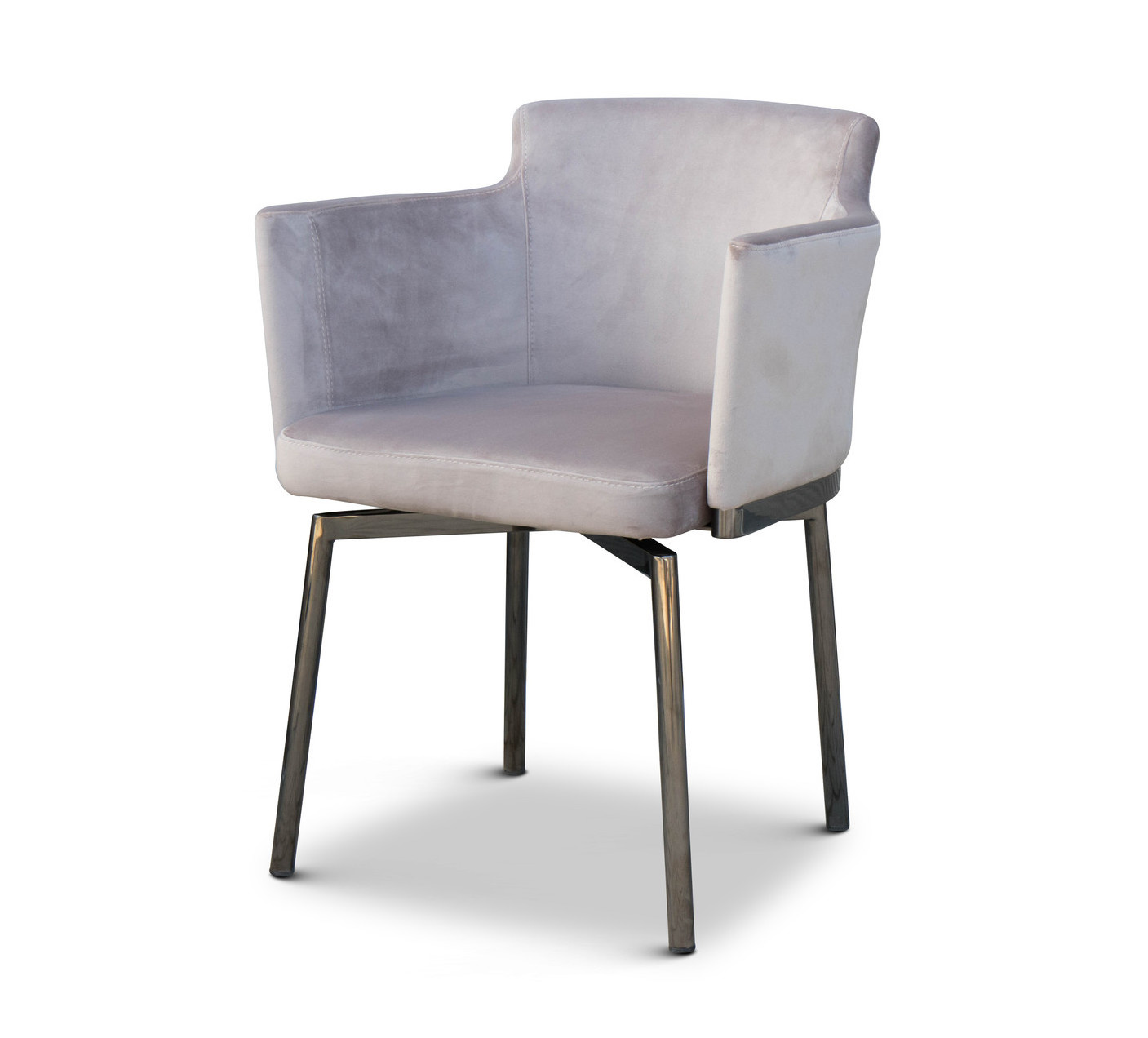 RUBEN Dining Chair Light Taupe Velvet-1