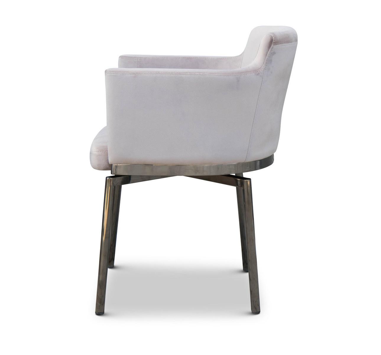 RUBEN Dining Chair Light Taupe Velvet-2