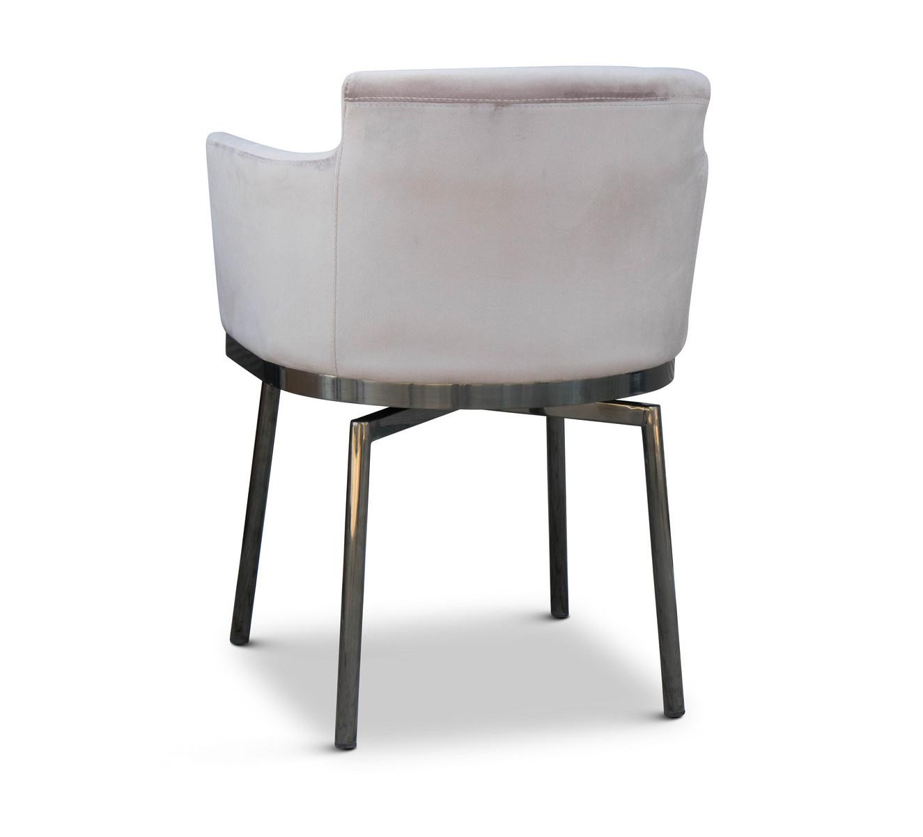 RUBEN Dining Chair Light Taupe Velvet-3