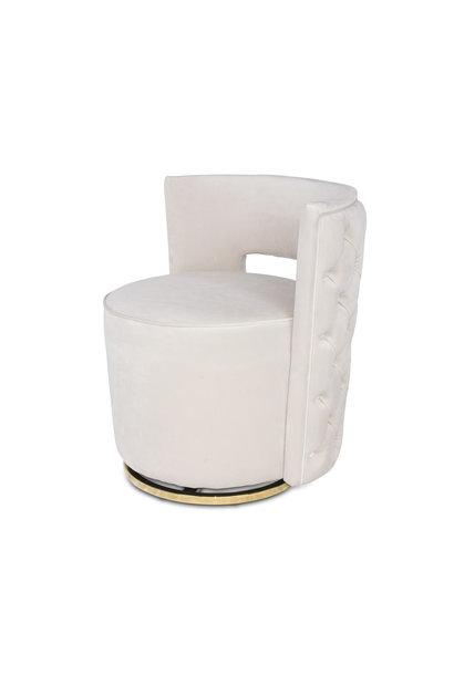 SWAN Arm Chair Elephant Breath Velvet