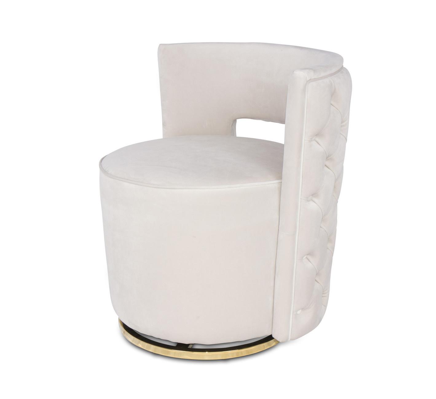 SWAN Arm Chair Elephant Breath Velvet-1