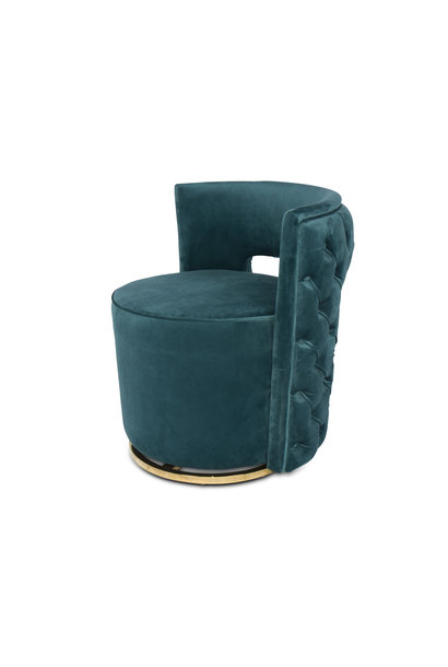SWAN Arm Chair Pine Green Velvet