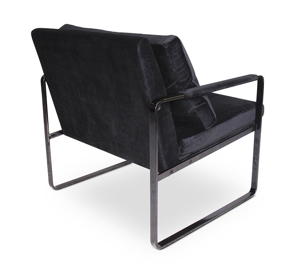 MILO Arm Chair Black Velvet-2