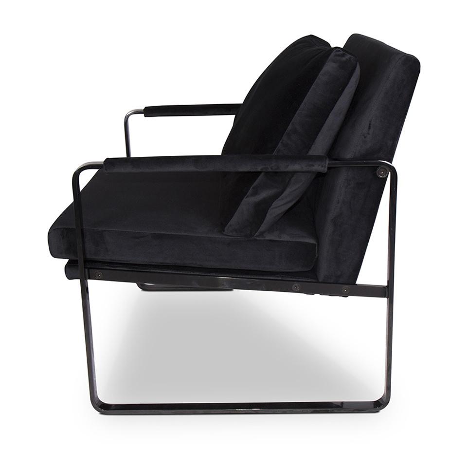 MILO Arm Chair Black Velvet-3