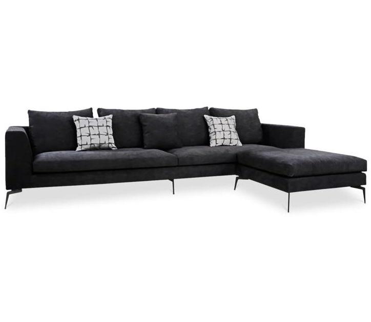 DONATELLA Corner Sofa Black Velvet Large-1