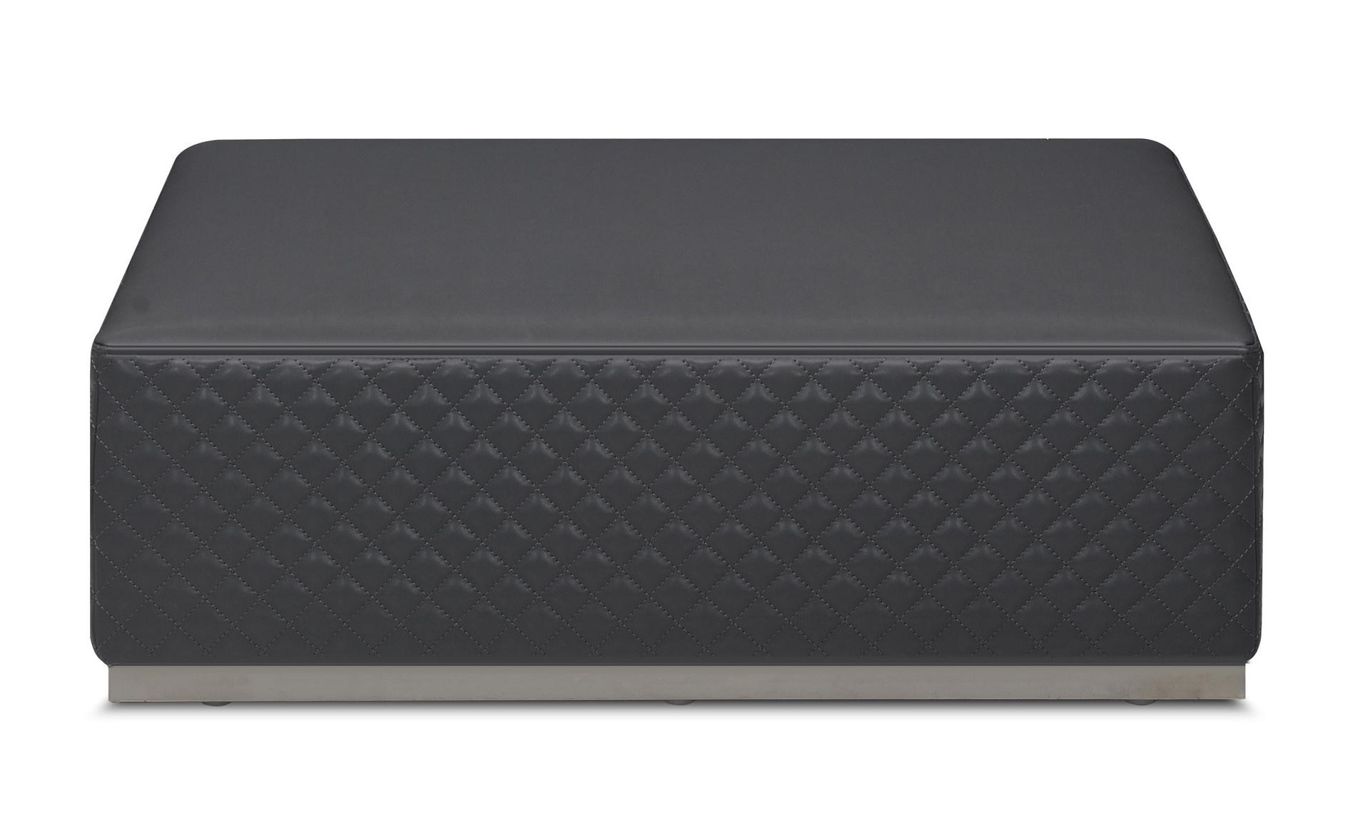 MASSIMO Ottoman Mid Grey Leather-1