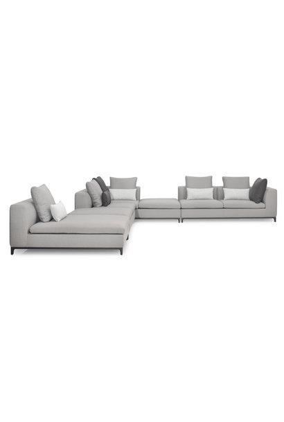 GIULIA Corner Sofa Mid Grey Hopsack