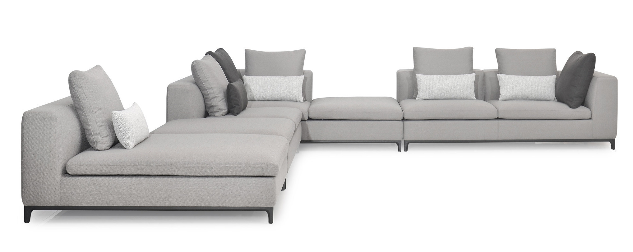 GIULIA Corner Sofa Mid Grey Hopsack-1