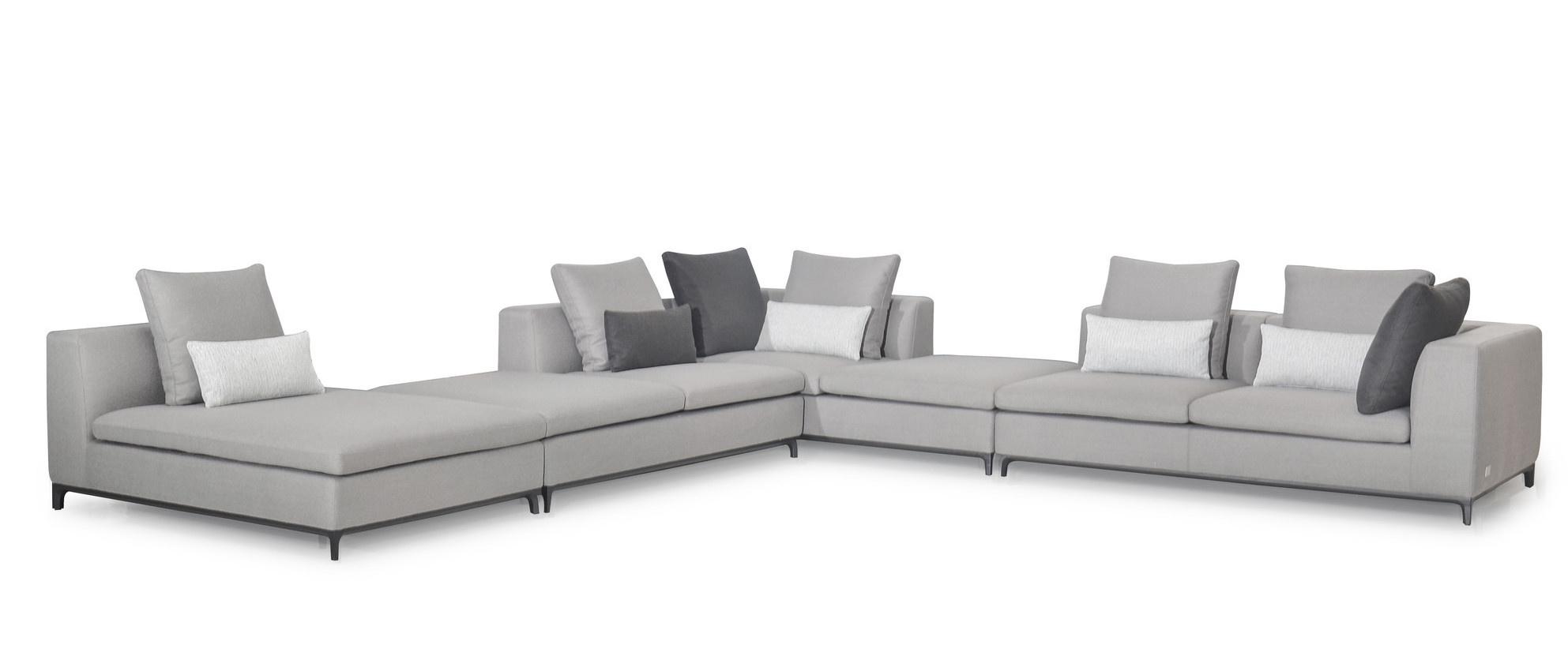 GIULIA Corner Sofa Mid Grey Hopsack-2