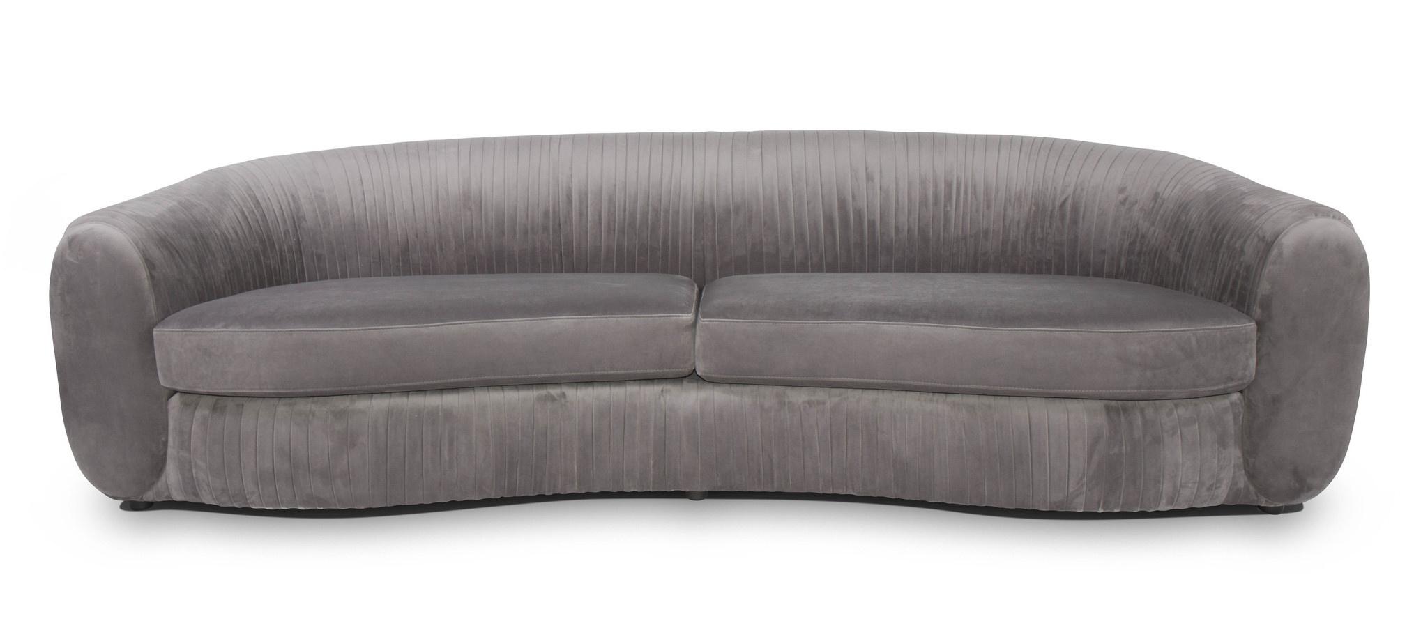 UFFIZI Sofa Dove Grey Velvet-1