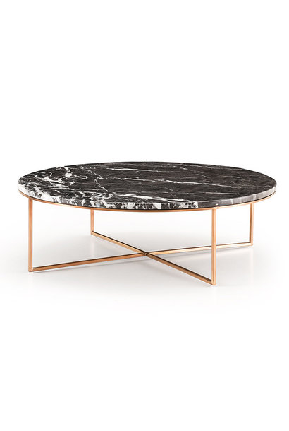 MARIBO Coffee Table rose gold brushed