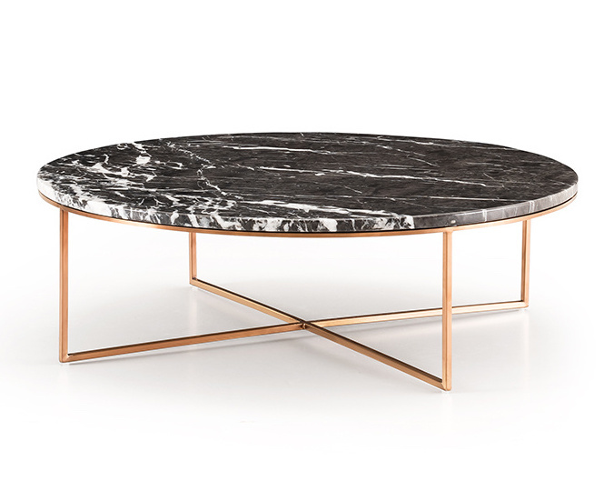 MARIBO Coffee Table rose gold brushed-1
