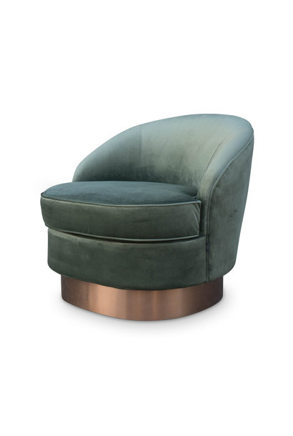GIARDION Arm Chair Forest Green velvet