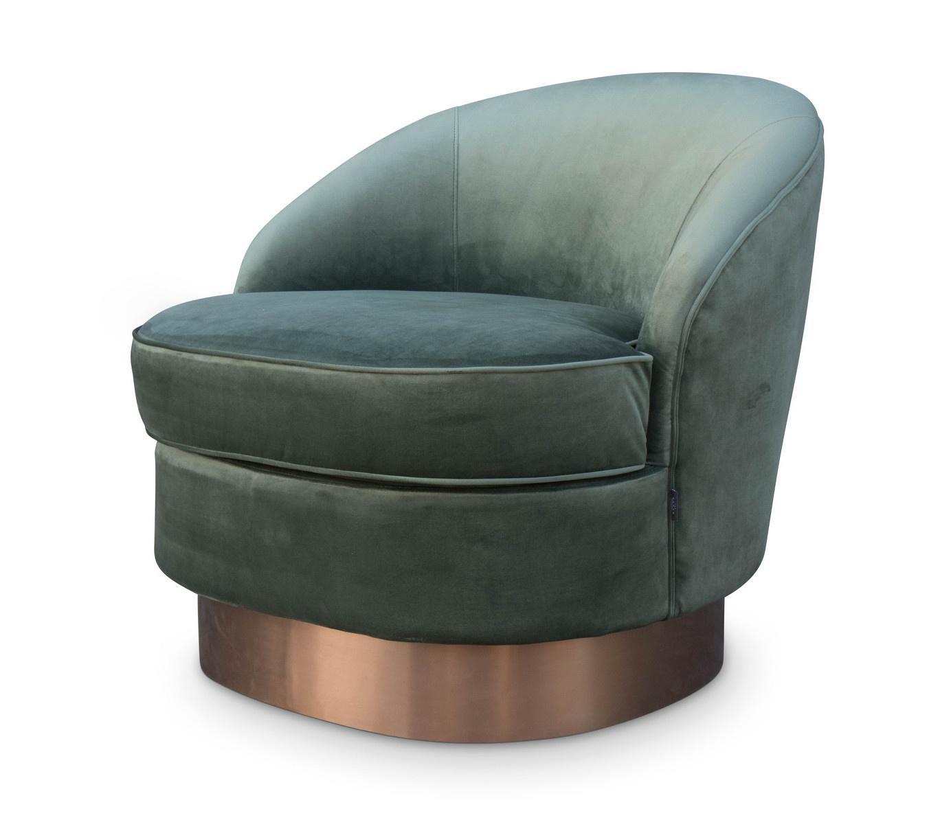 GIARDION Arm Chair Forest Green velvet-1