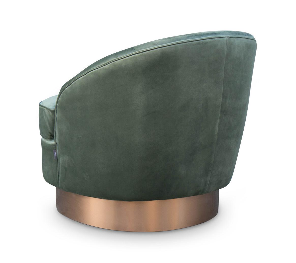 GIARDION Arm Chair Forest Green velvet-3