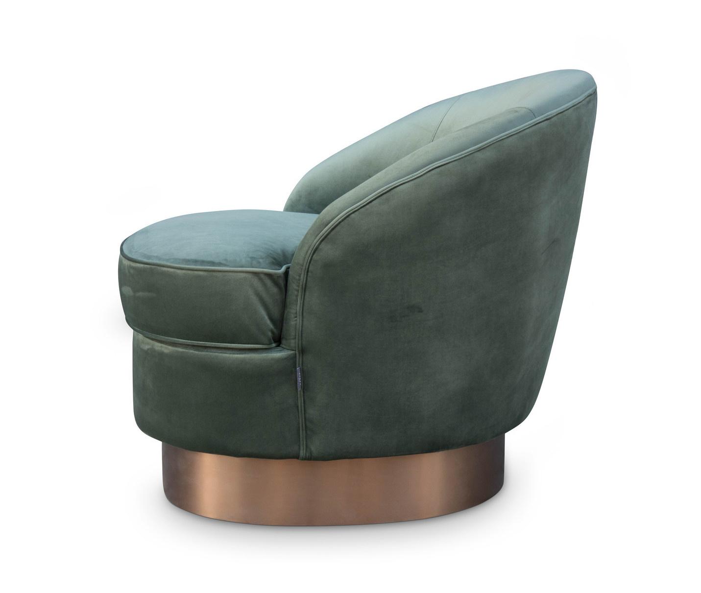 GIARDION Arm Chair Forest Green velvet-2