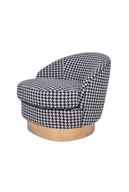 GIARDION Arm Chair Black Pied de Poule