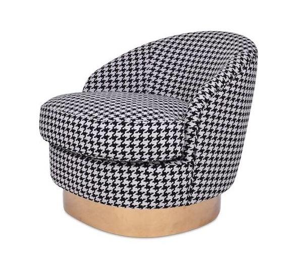 GIARDION Arm Chair Black Pied de Poule-1