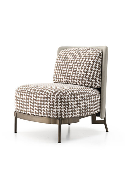 MULBERRY Leisure Chair Brown Pied de Poule