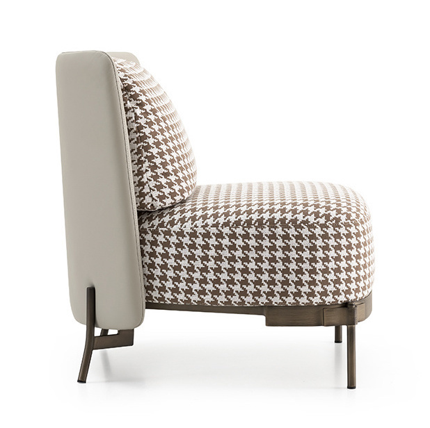 MULBERRY Leisure Chair Brown Pied de Poule-3