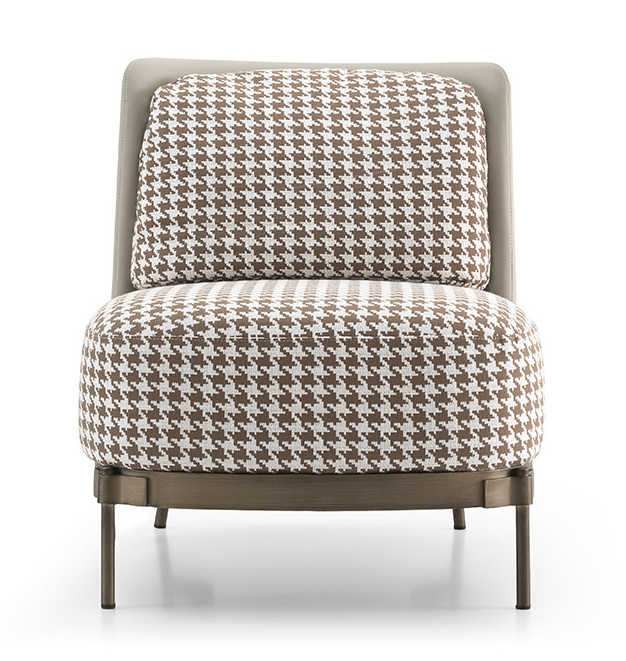 MULBERRY Leisure Chair Brown Pied de Poule-2