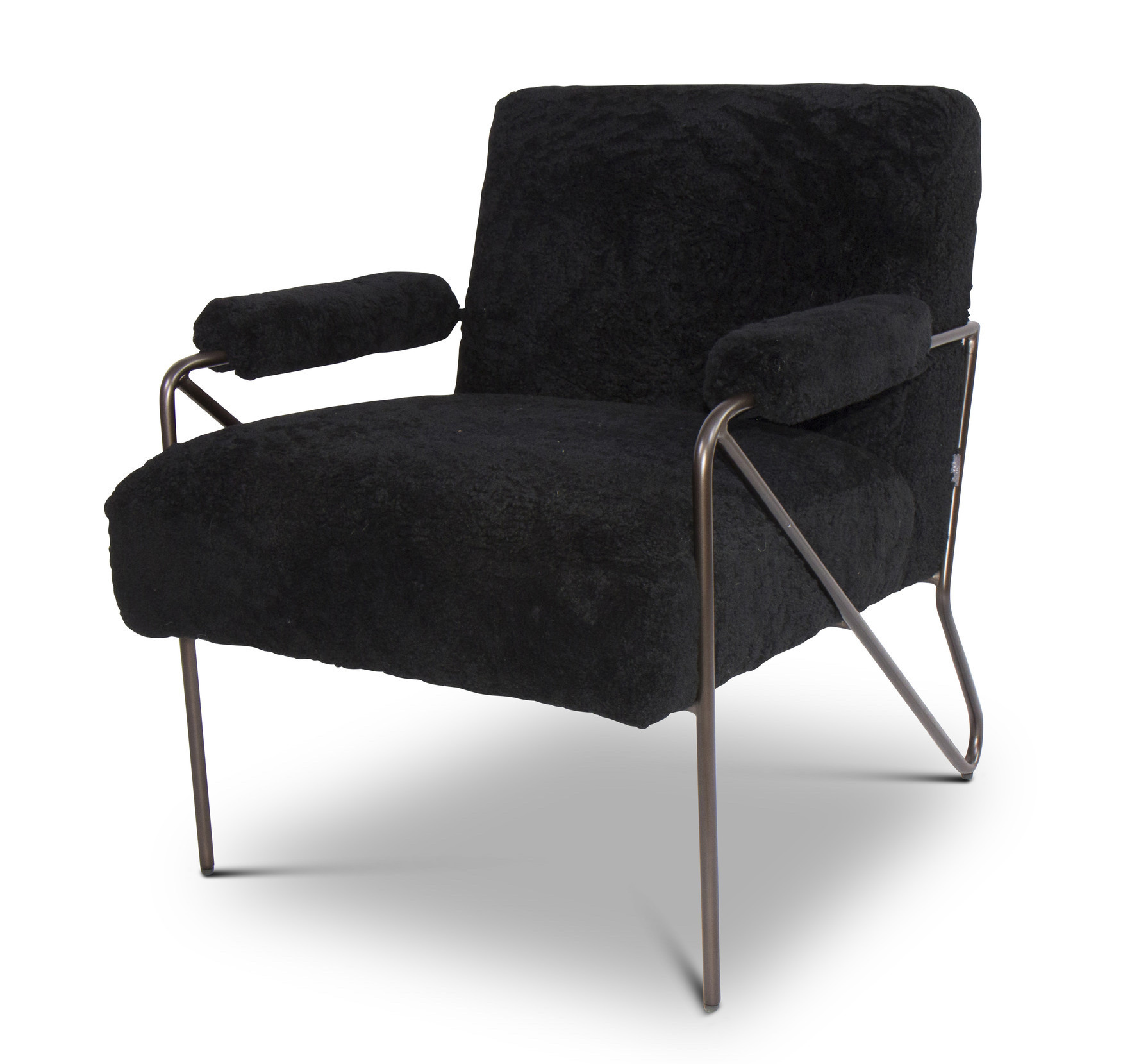 BLACK SHEEP Arm Chair Black Wool-1