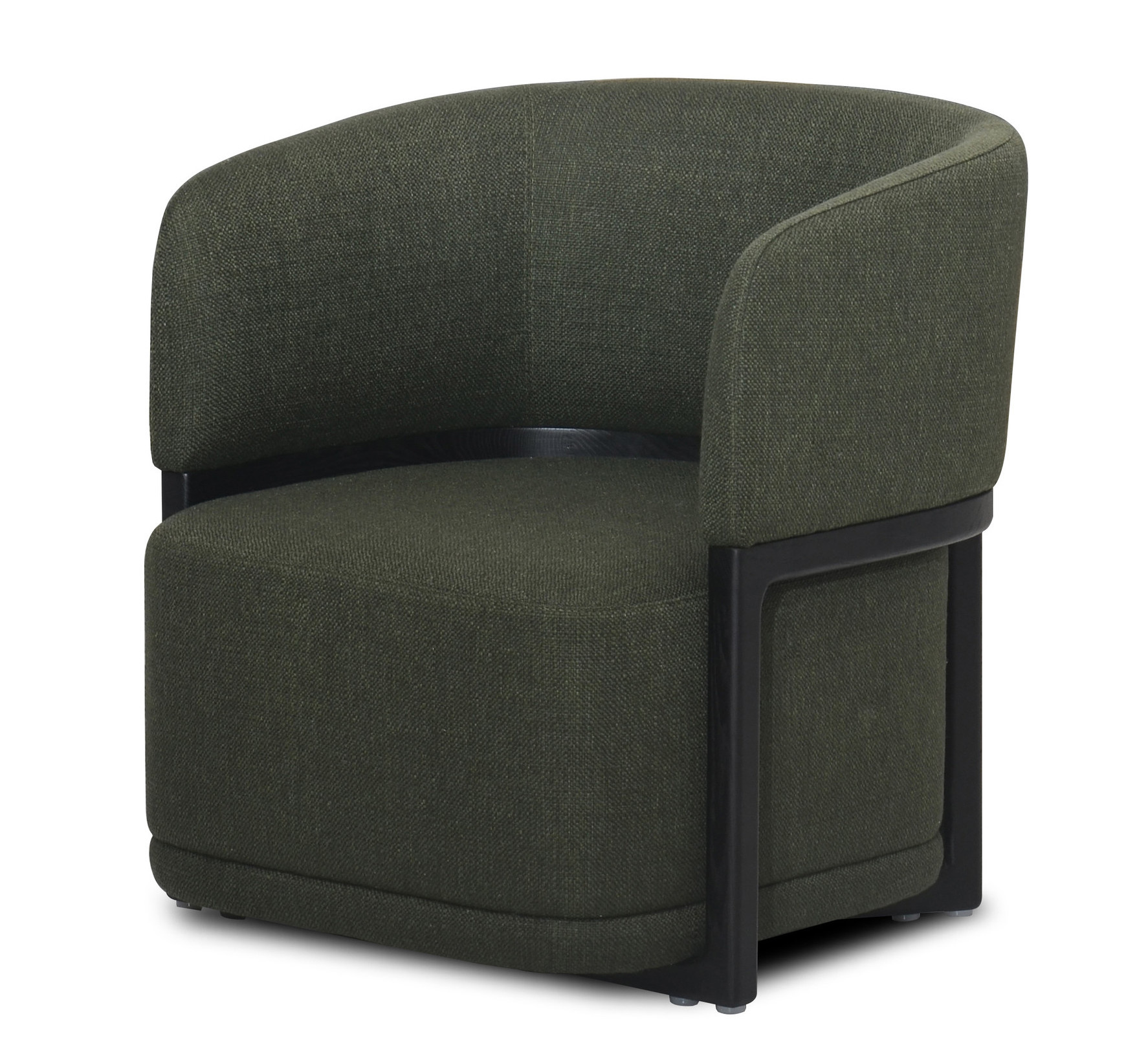COMO Arm Chair Forest Green Hopsack-1