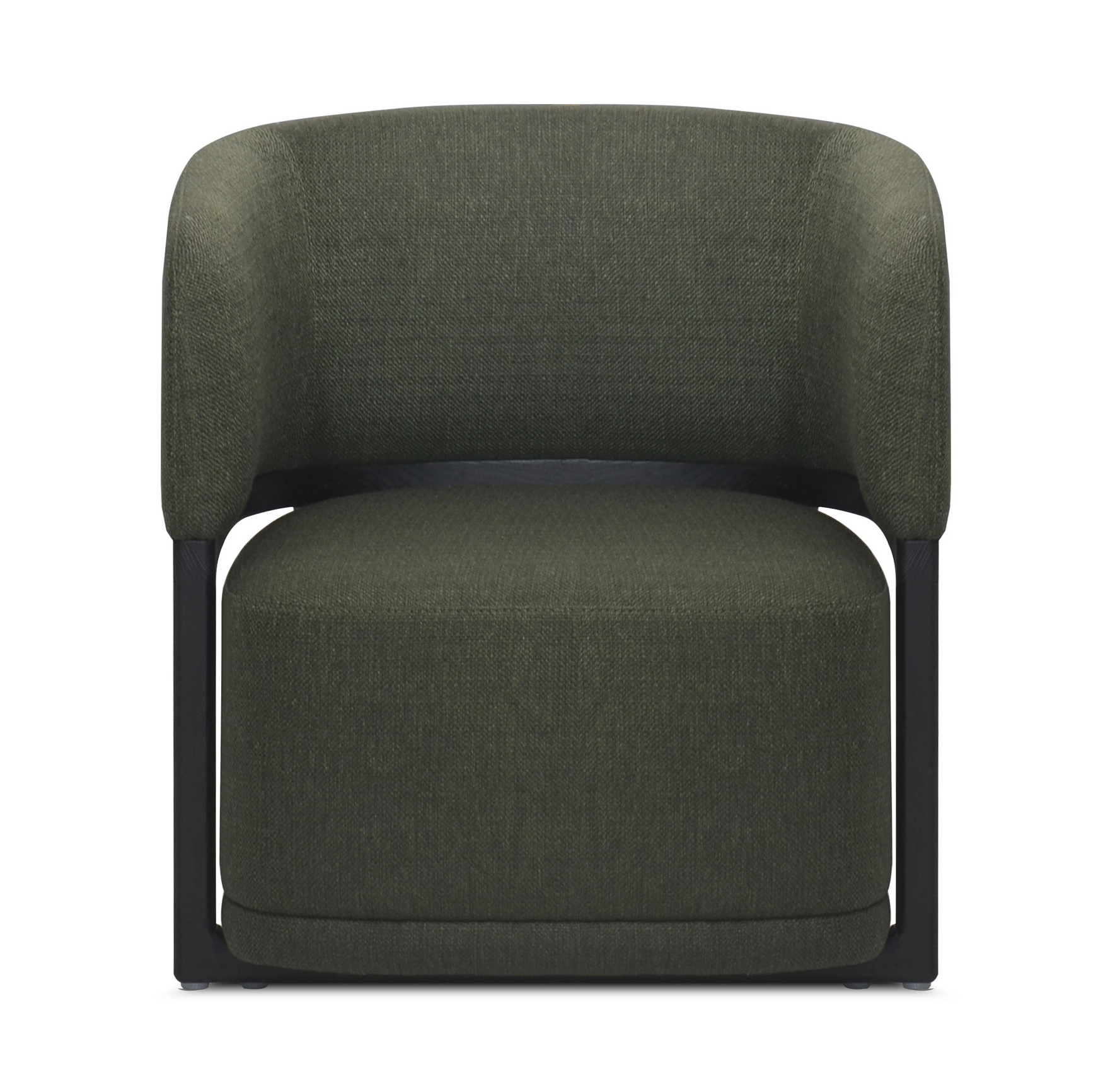 COMO Arm Chair Forest Green Hopsack-2