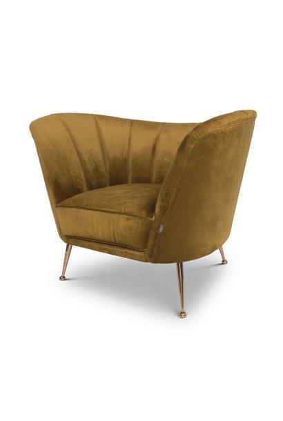 AVEIRO Arm Chair Ochre Velvet